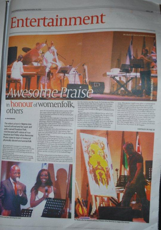 Guardian Newspaper Article on Awesome Praise 2011